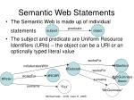 semantic web statements