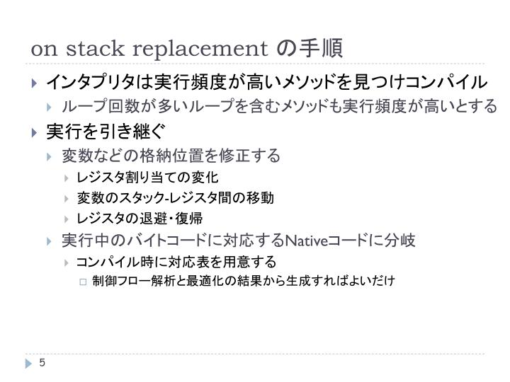 on stack replacement