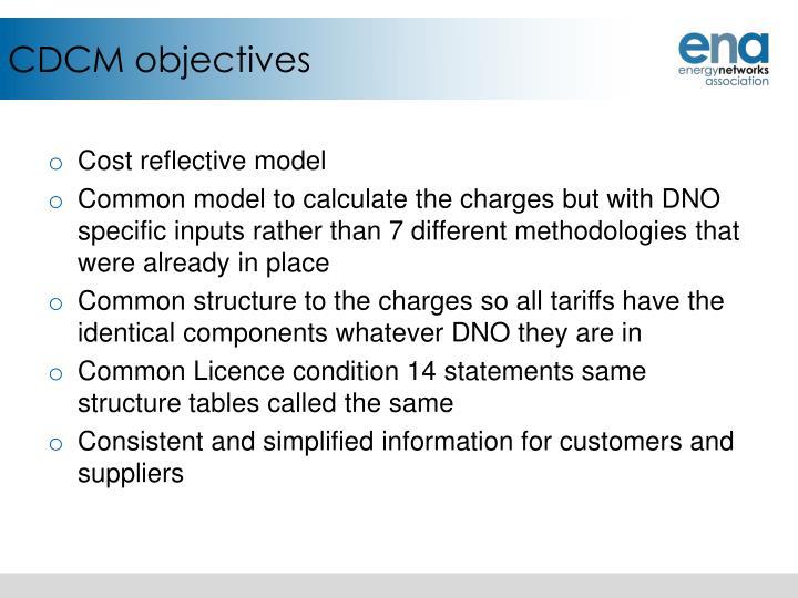 CDCM objectives
