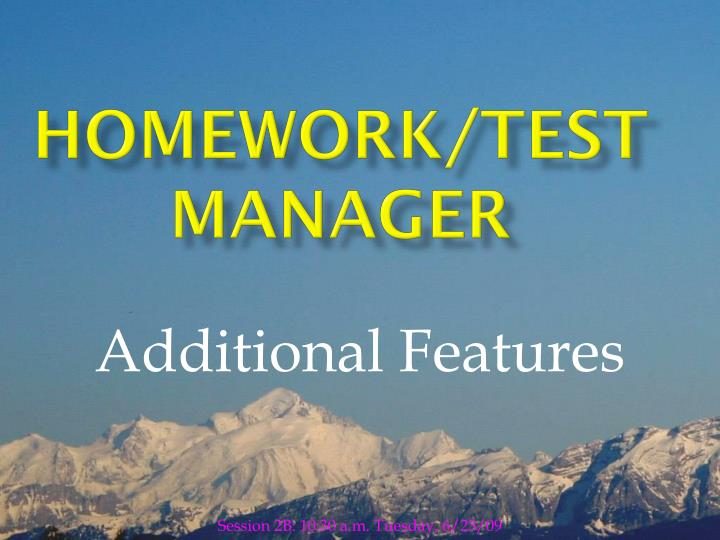 Homework test manager
