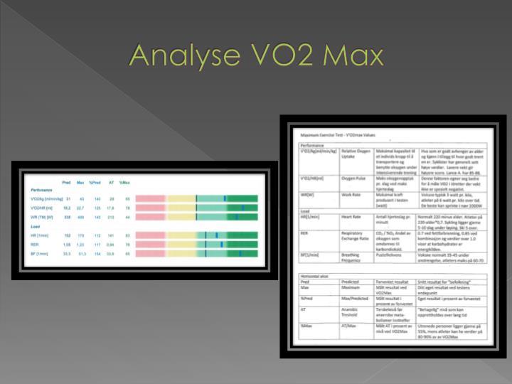 Analyse VO2 Max