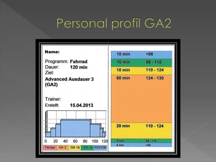 Personal profil GA2