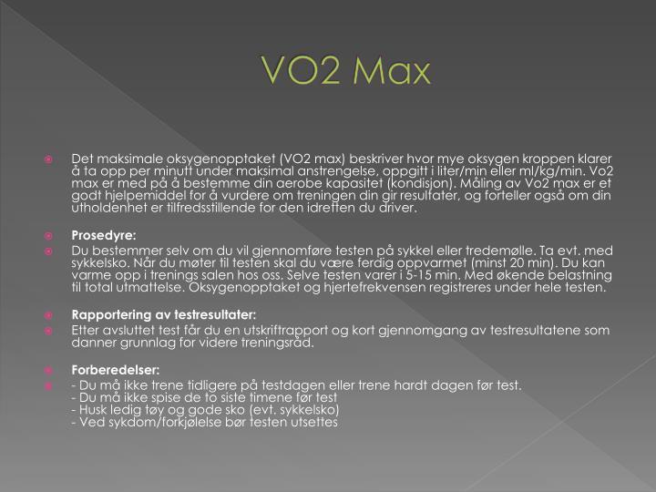 VO2 Max