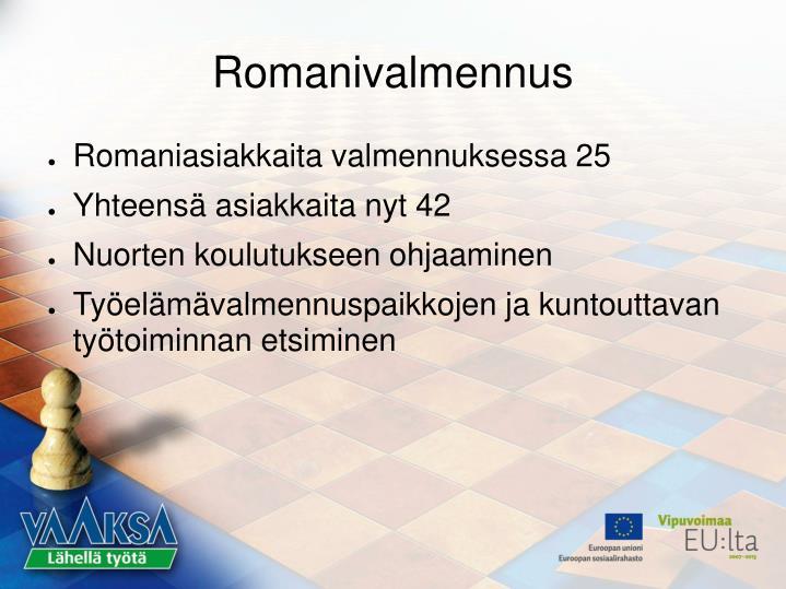 Romanivalmennus