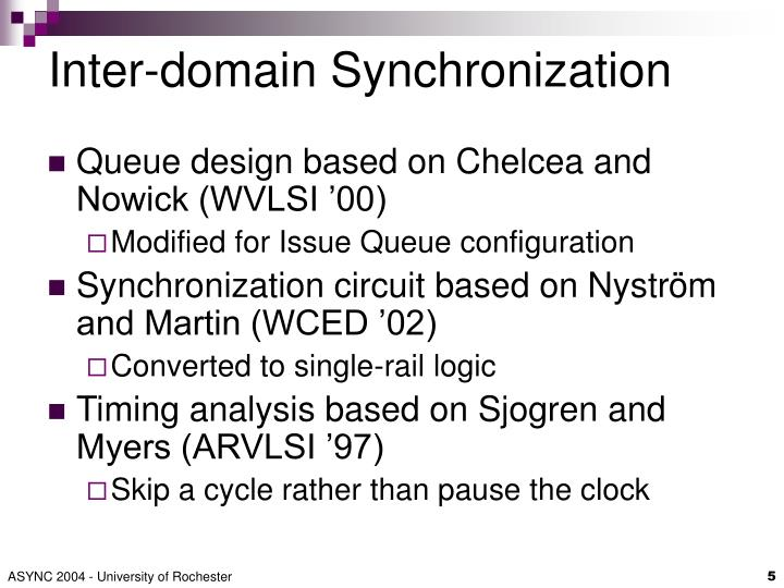 Inter-domain Synchronization