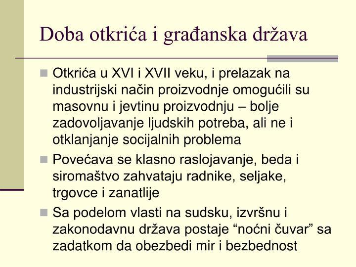 Doba otkrića i građanska država