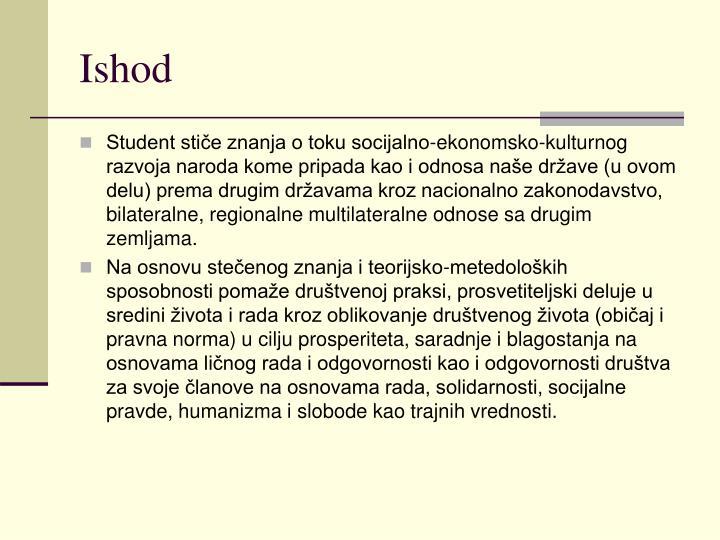 Ishod