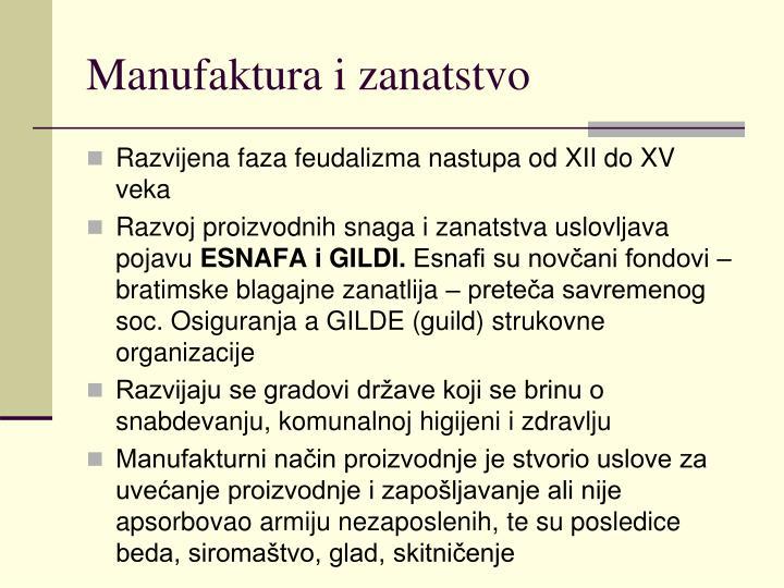 Manufaktura i zanatstvo