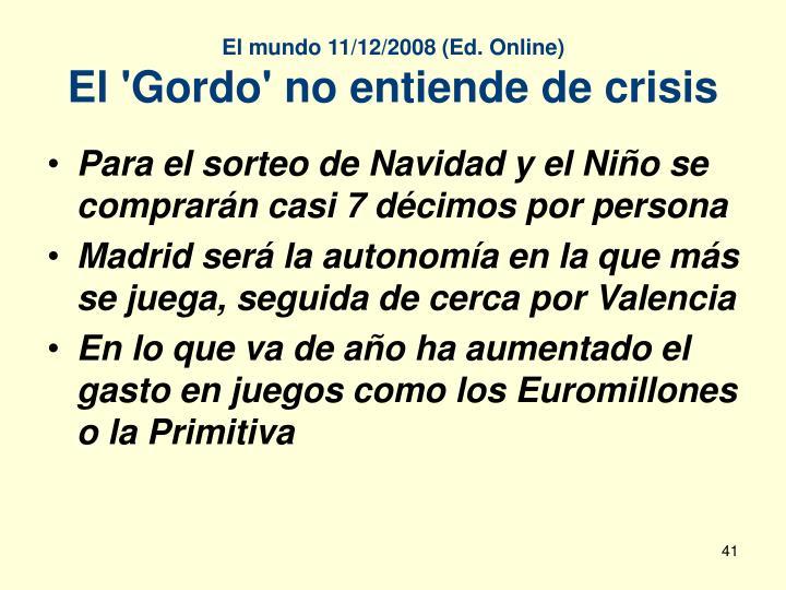 El mundo 11/12/2008 (Ed. Online)