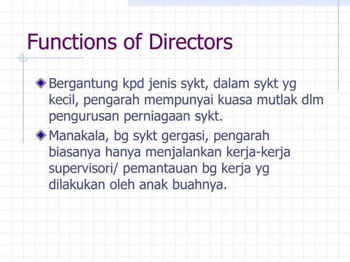Functions of Directors