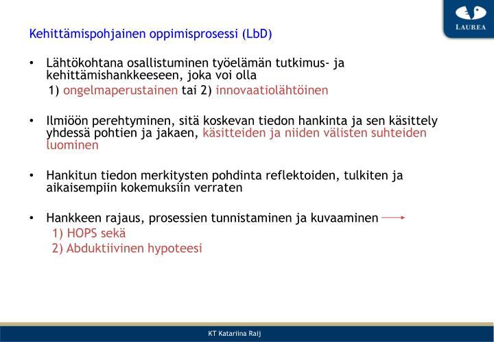 Kehittämispohjainen oppimisprosessi (LbD)