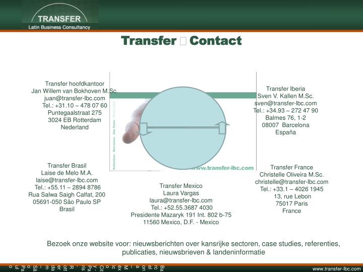 Transfer Contact