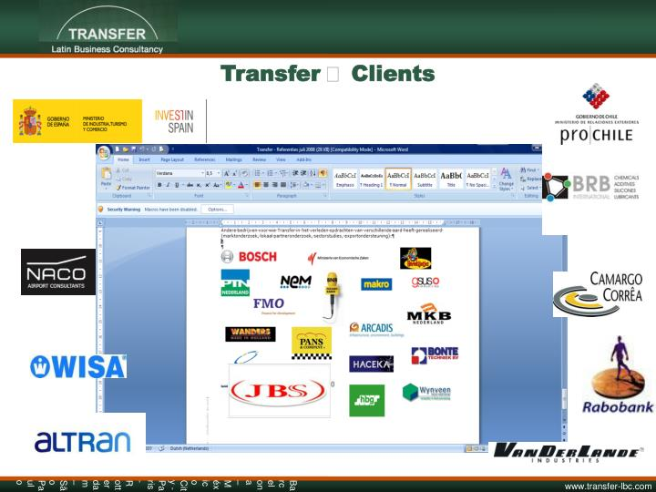 Transfer  Clients
