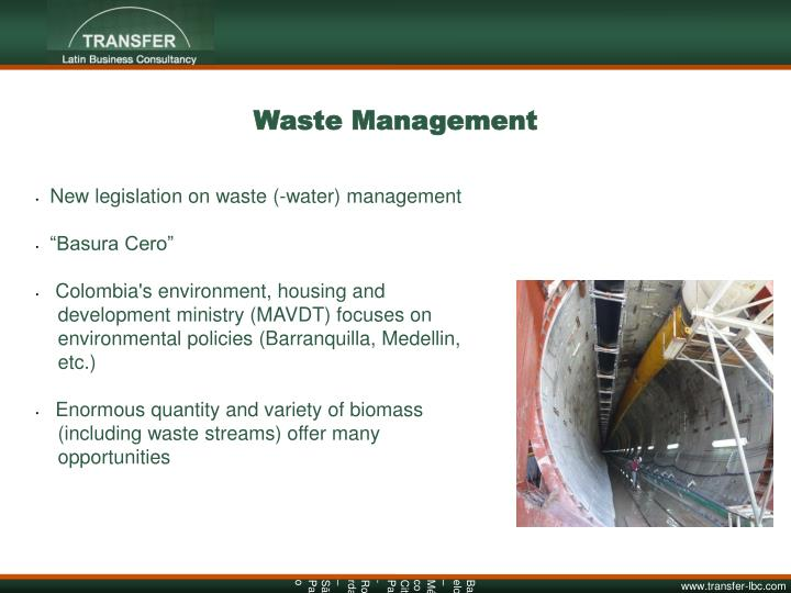 New legislation on waste (-water) management