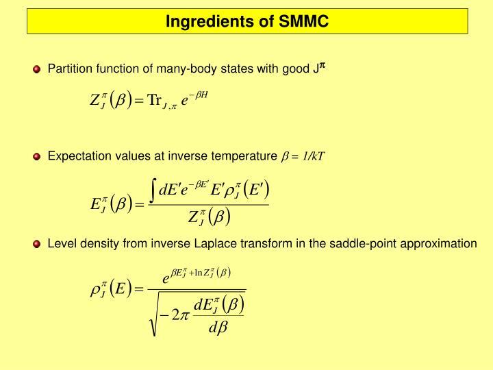 Ingredients of SMMC