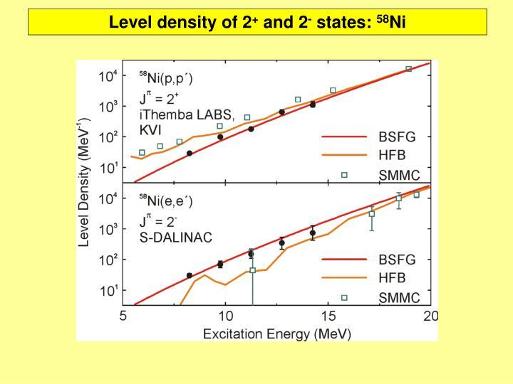 Level density of 2
