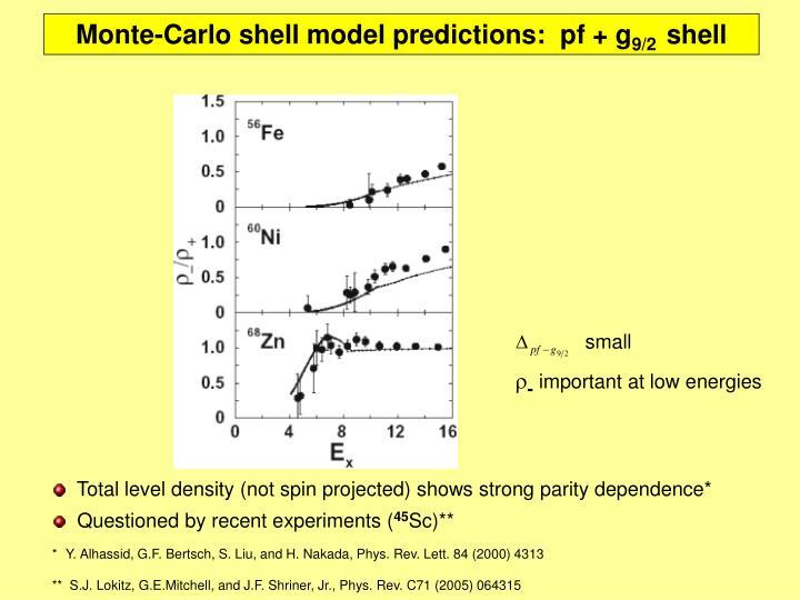 Monte-Carlo shell model predictions: