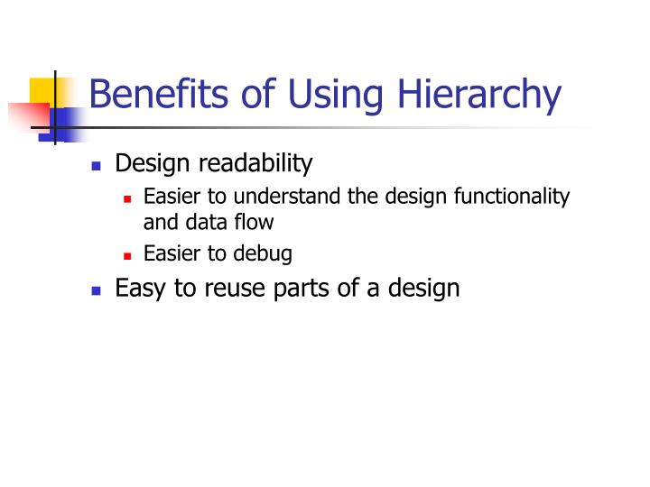 Benefits of Using Hierarchy