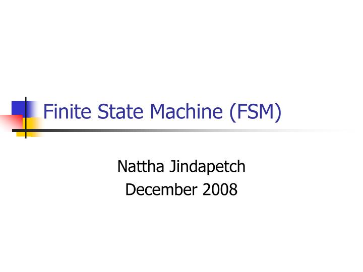 finite state machine fsm