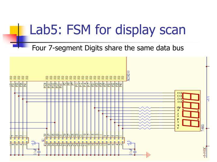 Lab5: FSM for display scan