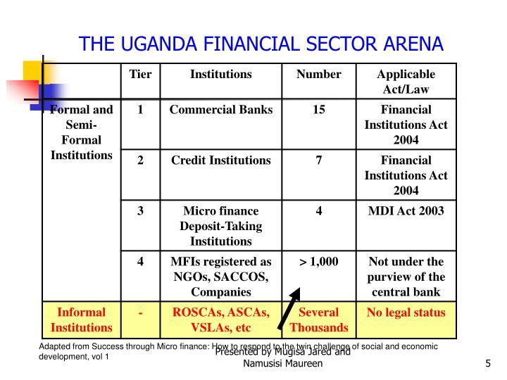 THE UGANDA FINANCIAL SECTOR ARENA