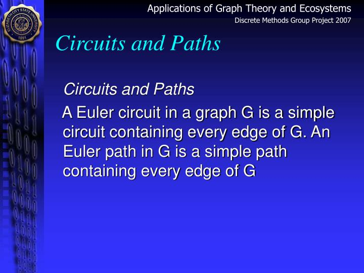 Circuits and Paths