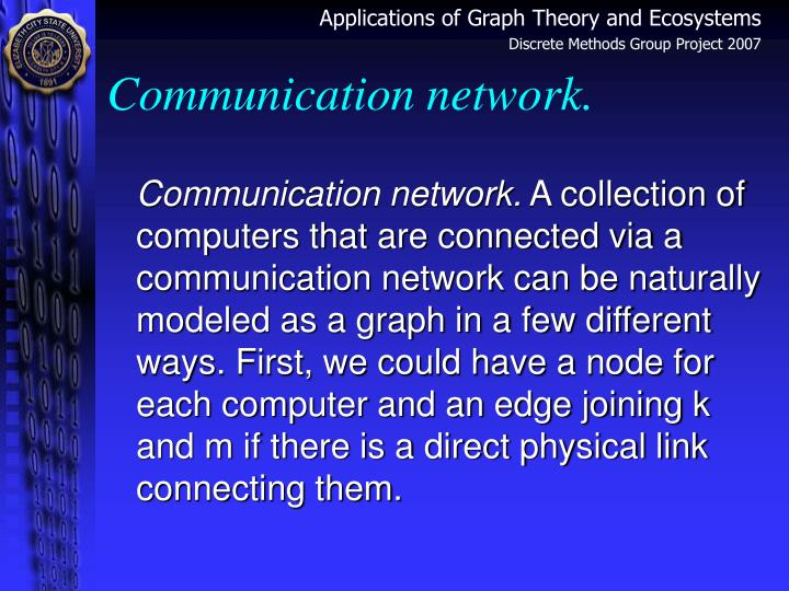Communication network.