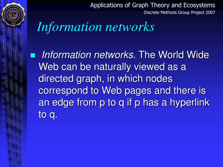 Information networks