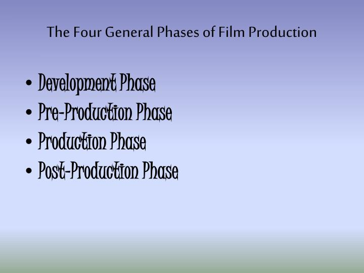 The Four General Phases of Film Production