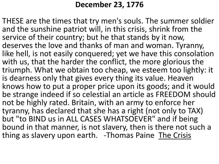 December 23, 1776