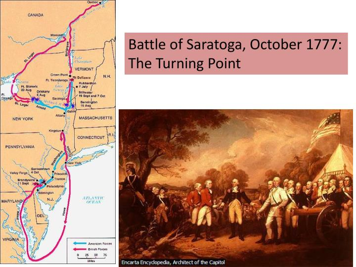 Battle of Saratoga, October 1777: