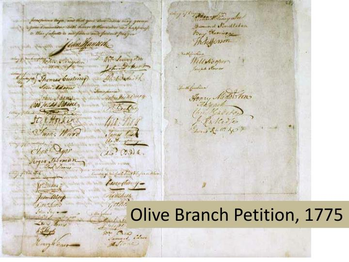 Olive Branch Petition, 1775