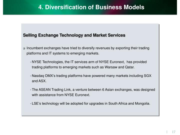 4. Diversification of Business Models