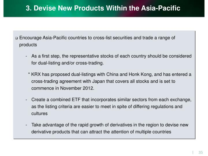 3. Devise New Products Within the Asia-Pacific