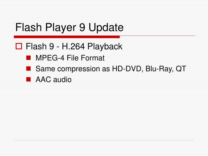 Flash Player 9 Update