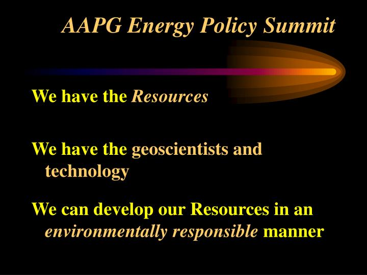 AAPG Energy Policy Summit