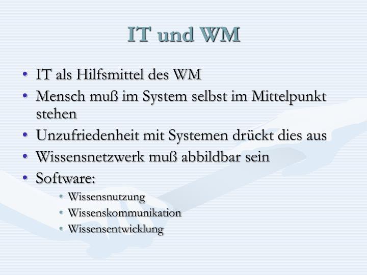 IT und WM