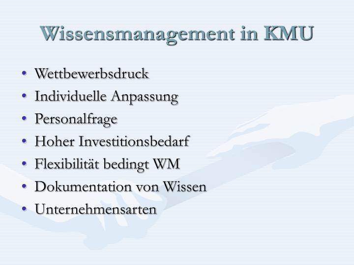 Wissensmanagement in KMU