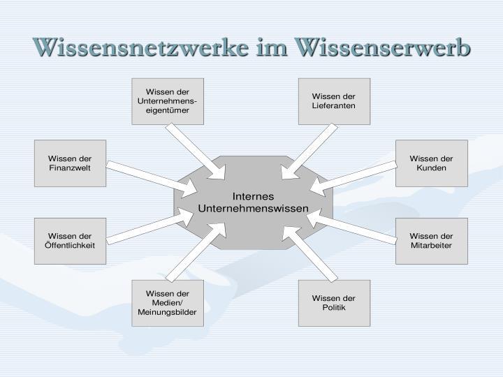 Wissensnetzwerke im Wissenserwerb