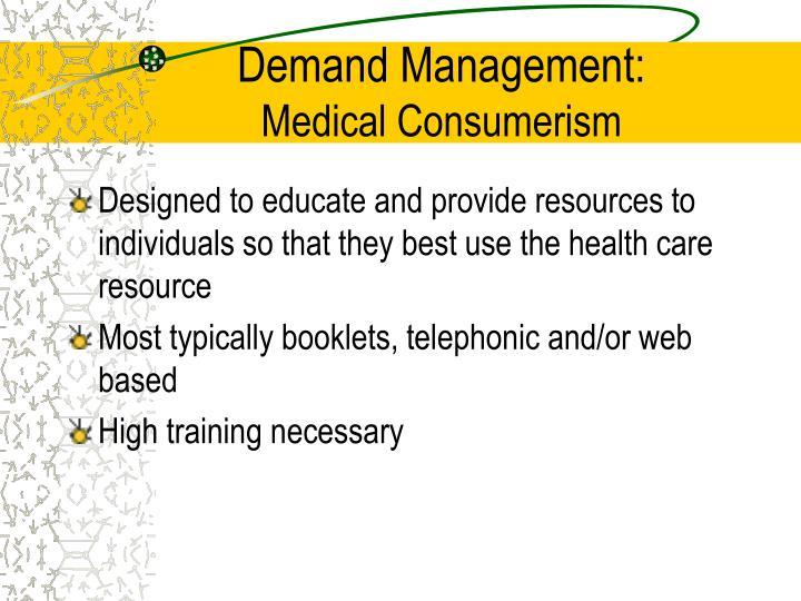Demand Management: