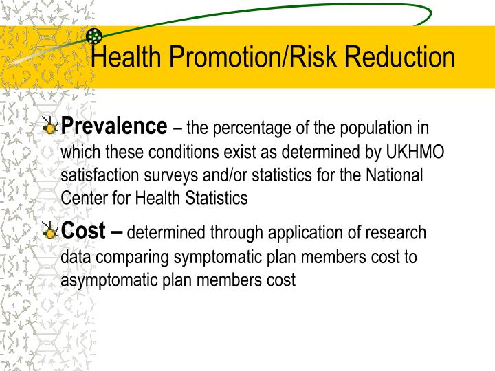 Health Promotion/Risk Reduction
