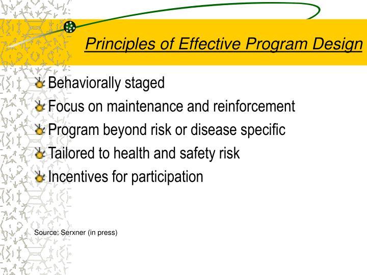 Principles of Effective Program Design