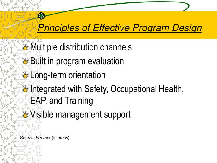 Principles of Effective Program Design