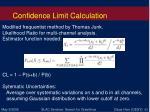 confidence limit calculation
