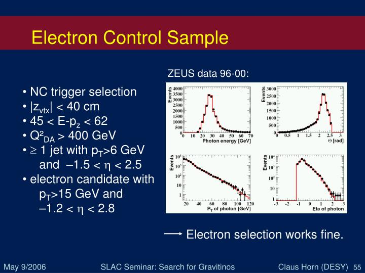 Electron Control Sample