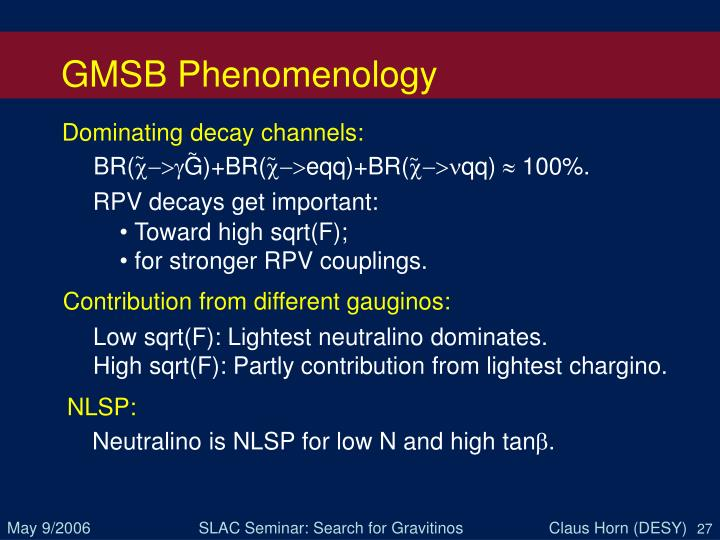 GMSB Phenomenology