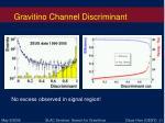 gravitino channel discriminant