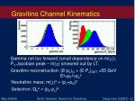 gravitino channel kinematics