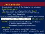 limit calculation