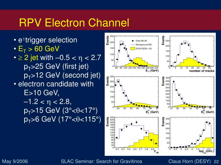 RPV Electron Channel